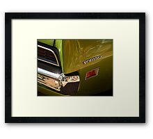 Chrome And Green With A Hint Of Red Framed Print