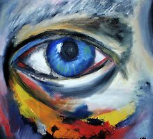 Self portrait (eye) by BlackEel