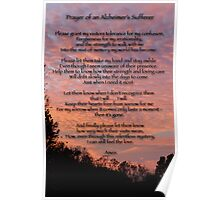 Prayer of an Alzheimer's Sufferer Poster