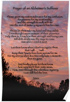 Prayer of an Alzheimer&#x27;s Sufferer by Bonnie T.  Barry