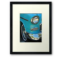 Chrome And Blue With A Hint Of Reflection Framed Print
