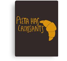 Peeta Has Croissants - Yellow Canvas Print