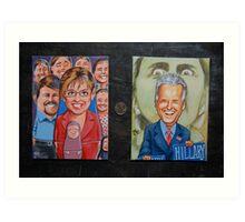 Palin Russian Doll, Biden trumps Hillary Art Print