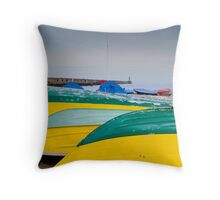 Whitley Bay Boats Throw Pillow