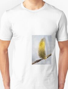 Willow Catkins - Silver World - Vertical T-Shirt