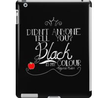 Black is my colour (white font, English spelling) iPad Case/Skin