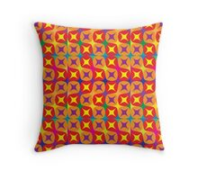 vibrant pattern in warm tones Throw Pillow