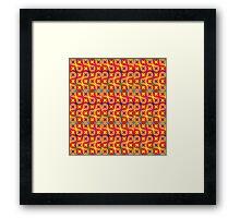vibrant pattern in warm tones Framed Print