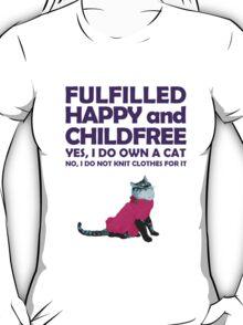 Childfree with cat (dark) T-Shirt