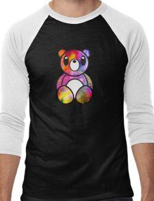 Glitchy Bear Chalky Glitch Men's Baseball ¾ T-Shirt