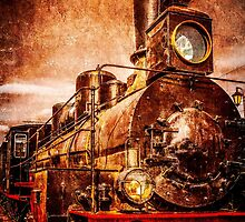 Vintage steam train by luckypixel