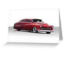 1950 Mercury Custom Coupe Greeting Card