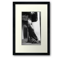 long-sufferingly waiting for your reply Framed Print