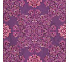 ornamental seamless pattern on purple texture Photographic Print