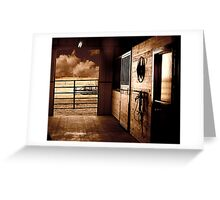 Barn in sepia 2nd version Greeting Card