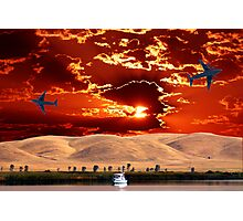 EARTH, SKY, FLYING AND FLOATING Photographic Print