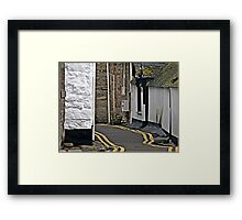""" One of the Streets through this Historic Little Town"" Framed Print"