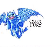 Ours is the Fury - Night Fury How to Train Your Dragon  by NicoleJadeArt