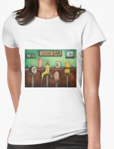Sushi Bar Womens Fitted T-Shirt