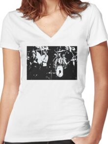 Playing in the Band -  Design 1 Women's Fitted V-Neck T-Shirt