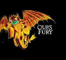 Ours is the Fury - Night Fury How to Train Your Dragon (orange) by NicoleJadeArt