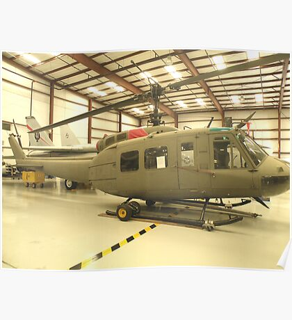 UH-1 Huey Helicopter Poster
