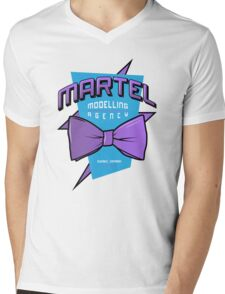 Martel Modelling Agency Mens V-Neck T-Shirt