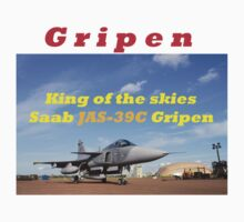 Saab JAS 39 Gripen King of the Skies slogan T-Shirt