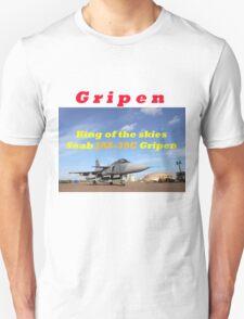 Saab JAS 39 Gripen King of the Skies slogan T-Shirt