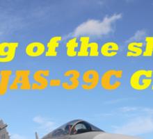 Saab JAS 39 Gripen King of the Skies slogan Sticker