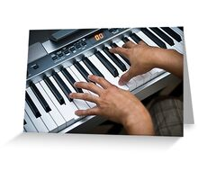 Keyboardist Greeting Card