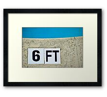 6ft Pool Sign Framed Print