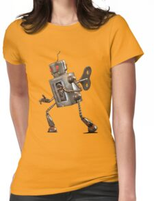 Wind-up Robot Womens Fitted T-Shirt