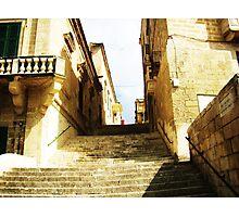 Valletta City Steps Photographic Print