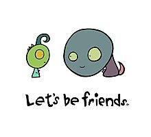 Let's Be Friends Photographic Print