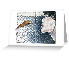 she used to dream in bleu prussien... Greeting Card