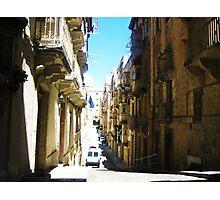 City Street, Valletta Photographic Print