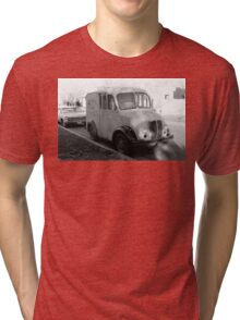 Stand By Your Van Vintage Black and White Photo Tri-blend T-Shirt