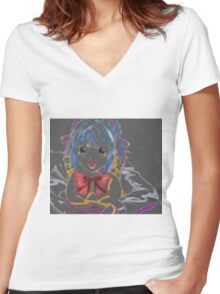 Anime Women's Fitted V-Neck T-Shirt