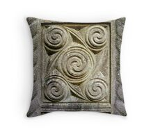Relief Carvings Throw Pillow