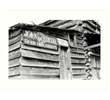 John Deere Farm Implements Art Print