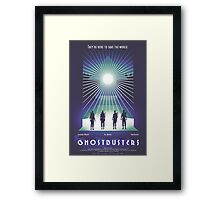 """Ghostbusters"" Poster Framed Print"