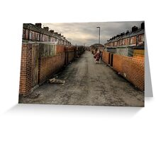 Through the backstreets of a Yorkshire mining Town Greeting Card