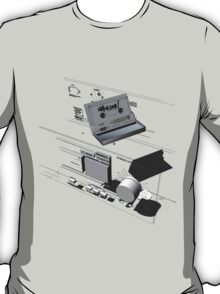 Napoleon Cassette and Deck - Wireframe T-Shirt