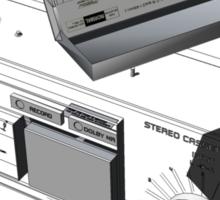Napoleon Cassette and Deck - Wireframe Sticker