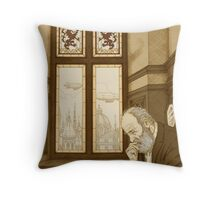 Old Cliff Face Throw Pillow