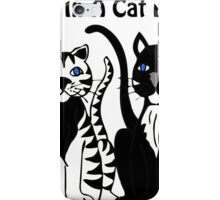 I Live In A Cat House iPhone Case/Skin