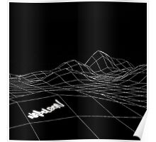 Napoleon - Wireframe Landscape, Black and White Poster