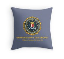 Arcade Winners Dont Use Drugs Throw Pillow