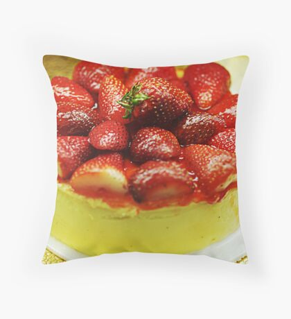 Strawberry Cheesecake Throw Pillow